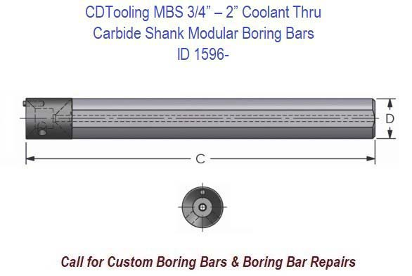 Modular Boring Bar Carbide Shank MB 3/4
