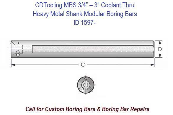 Modular Boring Bar Heavy Metal Series MBH 3/4