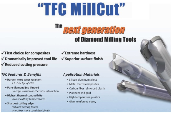 Polycrystalline Diamond Tipped End Mills