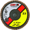 2 inch Type 27 - 36 Grit Zirconia Reg Roll On - 2-3 inch Roll On Flap Disc ID # MG9030001