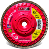 4 1/2 inch × 5/8 inch-11 - 40 Grit - Z3 XL Compact Trimmable Flap Disc with Hub ID # MG9030142