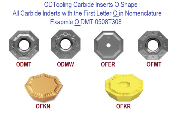 O Shape Carbide Inserts Octagonal Shape