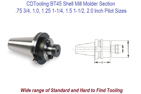 BT45 Shell Mill Holders / Adapter