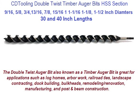 Double Twist Augers, Timber Augers