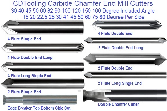 Chamfer Cutting End Mill Cutters