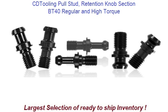 BT40 Pull Stud, Retention Knob Section