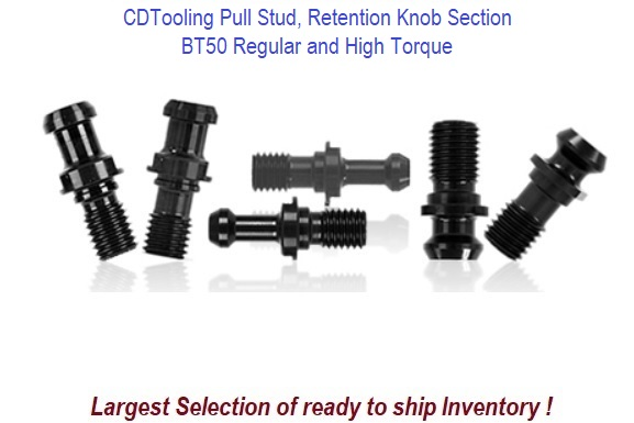 BT 50 Pull Stud, Retention Knob Section