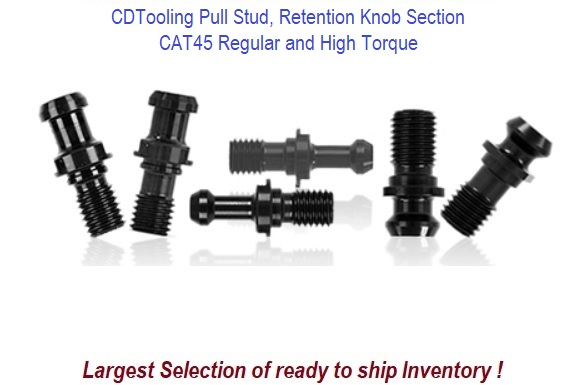 CAT45 Pull Stud, Retention Knob Section