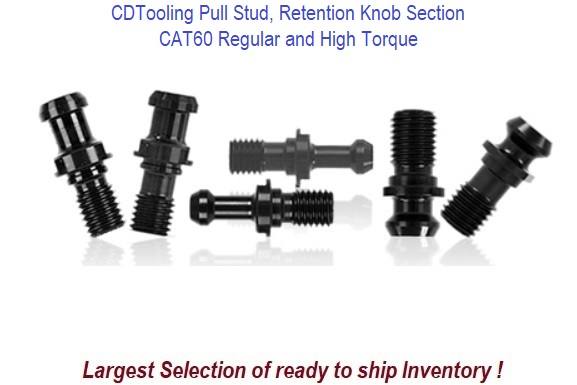 CAT60 Pull Stud, Retention Knob Section