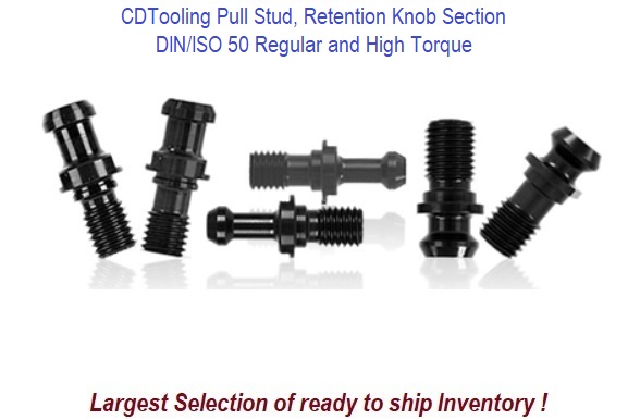 DIN/ISO 50 Pull Stud, Retention Knob Section