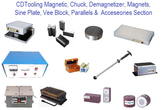 Magnetic, Chuck, Demagnetizer, Magnet, Sine Plate, Vee Block, Parallels Section