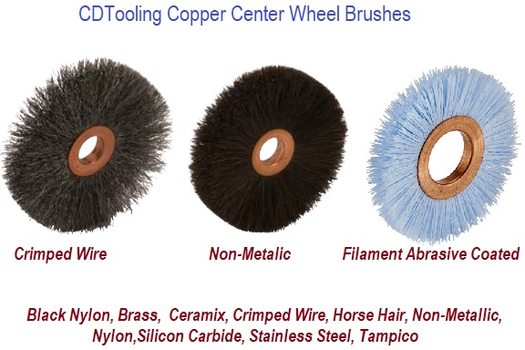 Copper Center Wheel Brushes