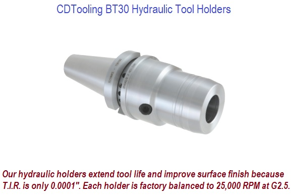 BT30 Hydraulic Tool Holders