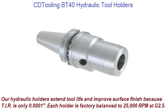 BT40 Hydraulic Tool Holders