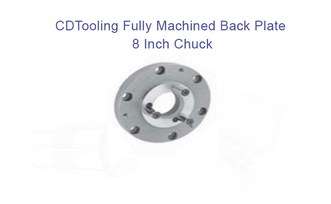 Back plate - D Taper 8in Chuck, D1-4 Finished, 7.89 Dia, Fully Machined - ID: 1051-7-878-084F