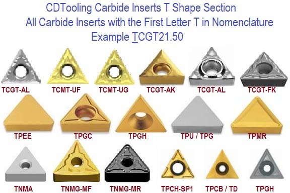 T Shape Carbide Inserts Triangle