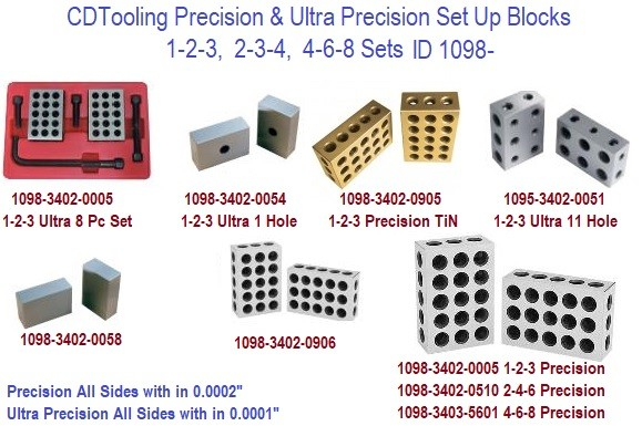 1-2-3, 2-3-4, 2-4-6, 4-6-8 Blocks Precision and Ultra Precision 9 Sets to Choose From ID 1098-