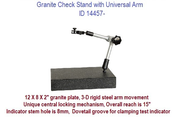 Granite Check Stand with Universal Arm 12 X 8 X 2