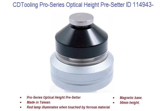 Pro-Series Optical Height Pre-Setter ID 114943-