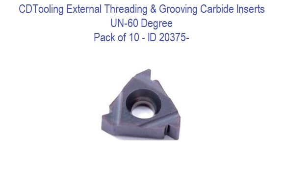 UN-60 Degree External Threading and Grooving Carbide Inserts - 10 Pack ID 20375-