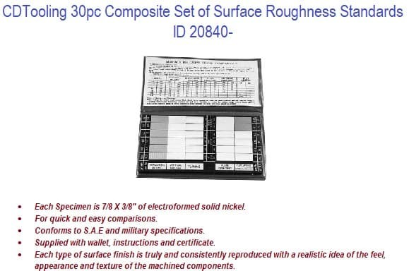 30pc Composite Set of Surface Roughness Standards ID 20840-