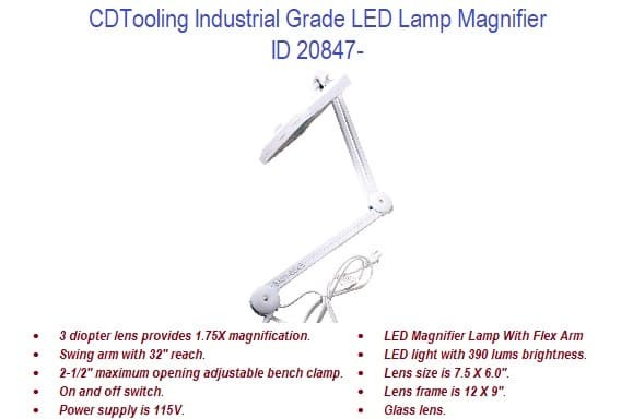 Industrial Grade LED Lamp Magnifier ID 20847-