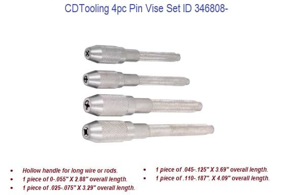 4 Piece Pin Vise Set ID 346808- (COPY)