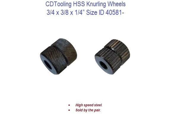 HHS Knurling Wheels - 3/4 x 3/8 x 1/4 Inch Size ID 40581-