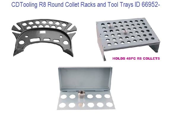 R8 Round Collets - Rack and Tool Trays ID 66952-