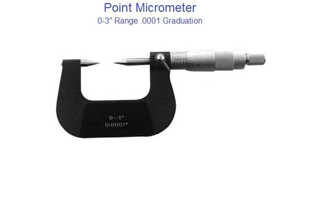 Micrometer 0-1, 1-2, 2-3 Point Micrometer .0001