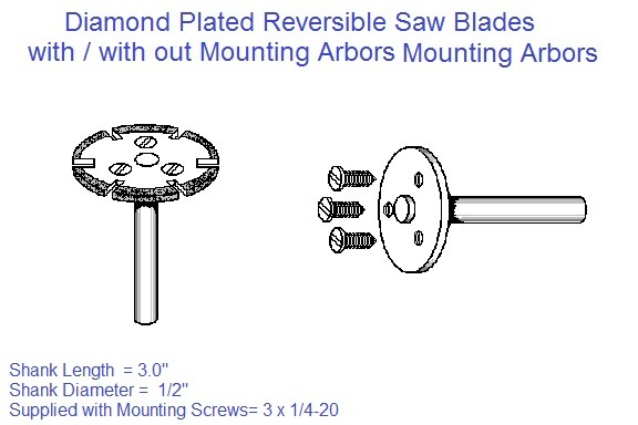 Diamond Plated Reversible Saw Blade 2