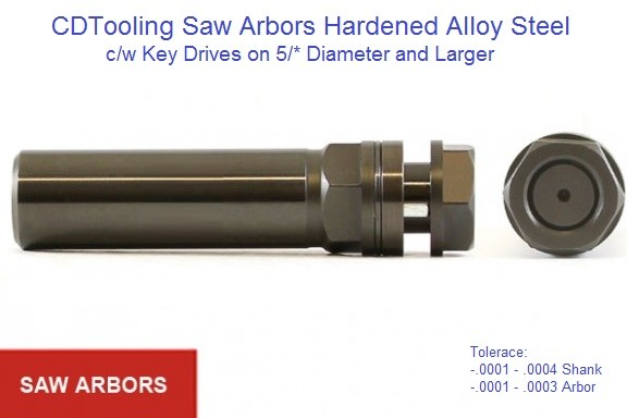Saw Arbors High Precision for Carbide and High Speed Steel, Saws and Blades ID 1649-