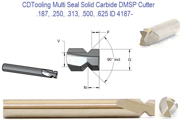 45 per Side 90 Included 45 from End Degree Dovetail Cutters Carbide Multi Seal DMSP .187 .250 .312 .500 .625, ID 4187-