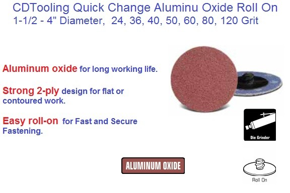 Abrasive Quick Change Disc AO Roll On 1-1/2, 2