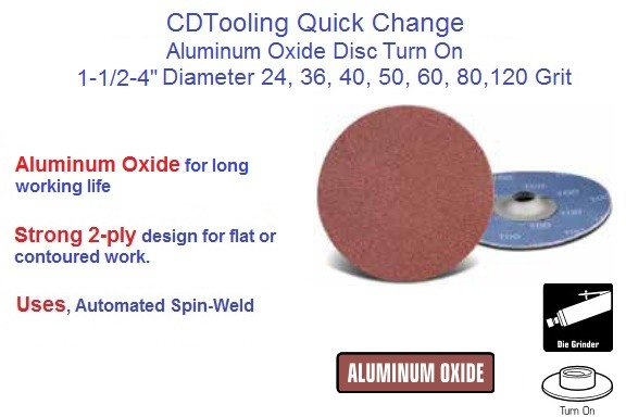 Abrasive Quick Change Disc AO Turn On 1-1/2, 2