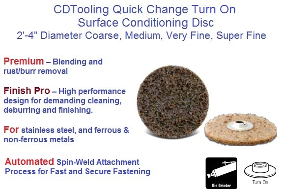 Quick Change Turn On Disc Surface Conditioning 2