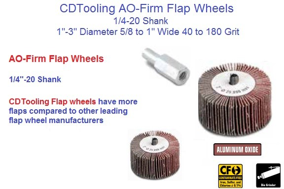 Abrasive Flap Wheel AO-Firm 1/4 -20 Shank 1