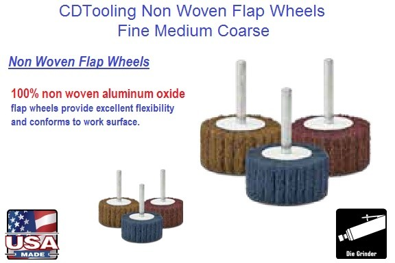 Abrasive Flap Wheel Non Woven Fine Medium Coarse 1