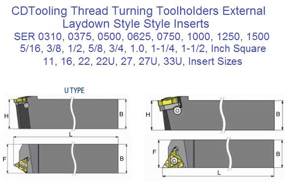 Turning Tool holders for  External Laydown Carbide Inserts SER SEL ID 2488-