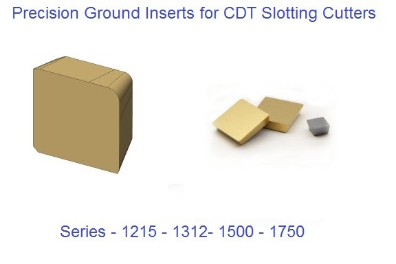 1215, 1312, 1500, 1750 Square Series Carbide Inserts CDT Slotting Cutters, Keyseat Cutters,T-Slot Cutters