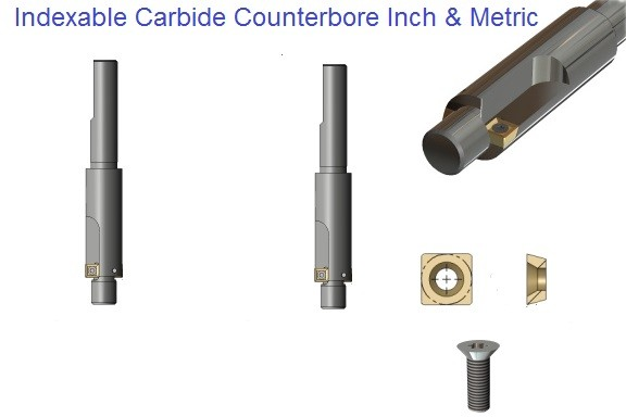 Indexable Carbide Counterbores Capscrew Sizes Metric, Inch ID 1110-