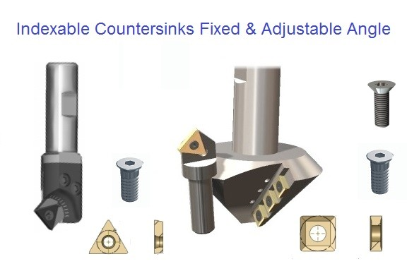 Indexable Carbide Countersinks 60 82 90 100 Degree and Adjustable Angle ID 1112-