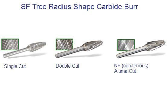 SF- Tree Shaped - Radius Carbide Burr ID 1193-