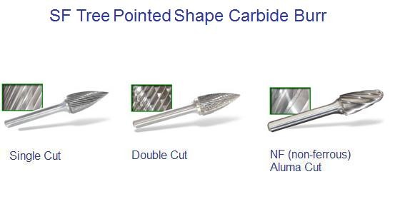 SG - Tree Shape - Pointed Carbide Burr ID 1194-