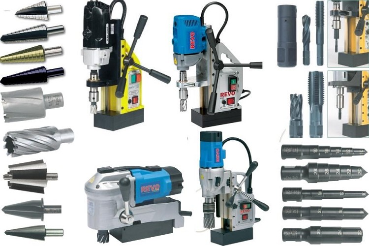 Magnetic Drill Units, PowerBore, Jancy Sluggers, Revo, Rotabroach, Hawg, Unibore Compatible