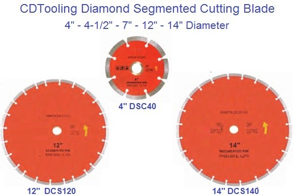 Diamond Wheels Segmented Dry Cutting Blade 4