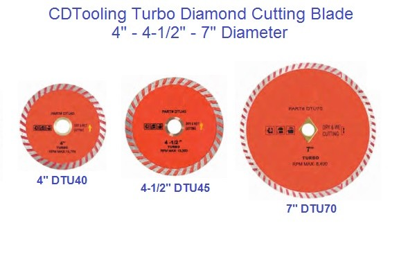 Diamond Wheels Turbo Wet / Dry Cutting Blade 4