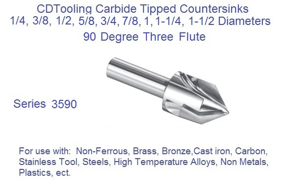 1 1//4 Diameter Carbide Tipped Counterbore