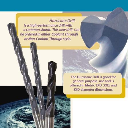 High Performance Carbide Drill for Steel, Stainless, Super Alloy, Titanium ID 834-
