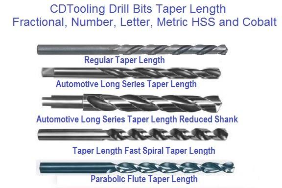 Michigan Drill Series 450 23//64 HSS Tanged Taper Length Drill Bit